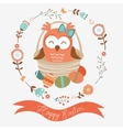Cute Easter owl vector image