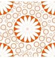 Orange Flower Seamless Pattern vector image