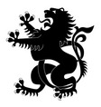 silhouette of heraldic lion vector image vector image