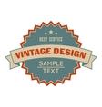 Sale vintage design banner vector image