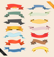 cartoon banners and ribbons vector image