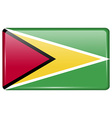 Flags Guyana in the form of a magnet on vector image