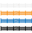 Garden fences vector image