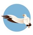 Happy greeting albatross vector image