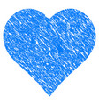 love heart grunge icon vector image
