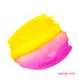 pink yellow watercolor circle vector image