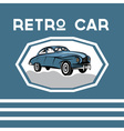 retro car old vintage poster vector image