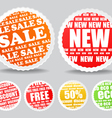 Shopping colorful discount labels collection vector image