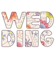 word wedding painted vintage vector image