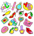 comic colorful patches collection vector image