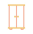 wooden closet isolated icon vector image vector image