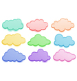 Colorful clouds vector image vector image
