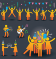 People Party Symbols vector image
