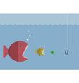 Big fish eat little fish vector image
