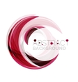 swirl line abstract background vector image vector image