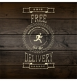 Free delivery badges logos and labels for any use vector image