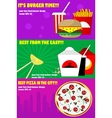 Banners for the fast-food vector image