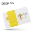 Credit card with Vatican City flag background for vector image