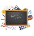back to school black desk vector image