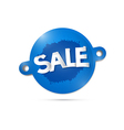 Blue Sale Label Tag isolated on Grey Background vector image