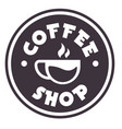 coffee shop logo circle coffee cup circle backgrou vector image