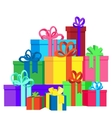 Flat isolated with gift boxes vector image