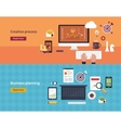 Set of flat design concepts of vector image