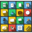Set of icons in a flat style vector image