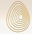 Golden wire egg multicontour vector image