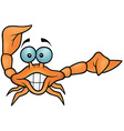 Happy Crab Pointing vector image vector image