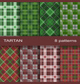 set of tartan pattern vector image vector image
