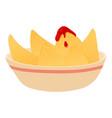 Nacho icon cartoon style vector image