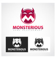 Monsterious Symbol vector image vector image