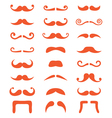 Ginger moustache or mustache icons set vector image vector image