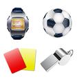 Football set vector image