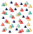 curve triangle pattern pastel and line overlap vector image
