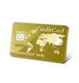 Embossed plastic payment card vector image vector image