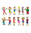 set of people talking cartoon vector image vector image