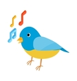 Blue singing bird icon isometric 3d style vector image
