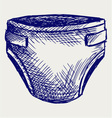 Baby diapers vector image