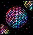 color circle on a black background vector image