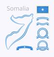 Colors of Somalia vector image