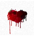 heart abstract grunge color vector image