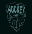 hockey emblemVS vector image