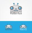 Robotics logo vector image