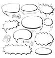 Set comics bubbles vector image