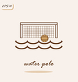 Water polo vector image
