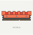 line flat color computer part icon data vector image