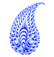 blue flower composition vector image