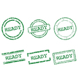 Ready stamps vector image